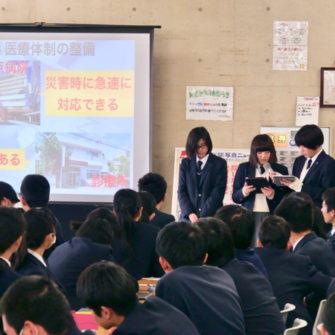 【総合学習】「広島の中の私」発表会(高校1年生)