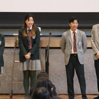 【行 事】第7回生徒例会(12月)~留学生がやってきた~