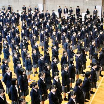 【行 事】3学期始業式および体育祭団長交代式